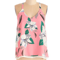 ModCloth Mid-length Sleeveless Looks on the Bright Side Top