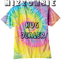HUG DEALER Tshirt Tie dye unisex groovy chill out men women teen