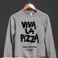 Viva La Pizza-Unisex Heather Grey Sweatshirt