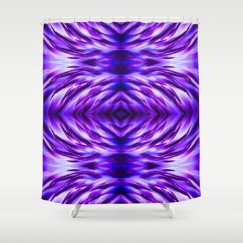 Cyber Monday | Purple Blue Night Shower Curtain by Azima