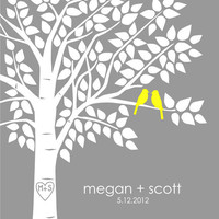 Guest Book Tree Personalized Wedding Print  16x20  by karimachal