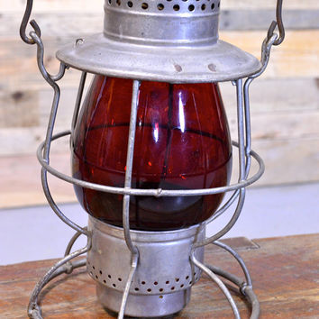 Vintage Dietz Lantern, No. 39 Vulcan, Dietz Railroad Lantern, Outdoor Lighting, Vintage Camping