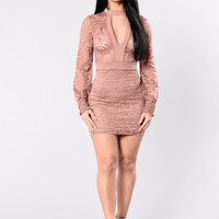 Only For The Elite Dress - Dusty Rose