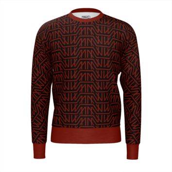 Logo Print Sweatshirt Red