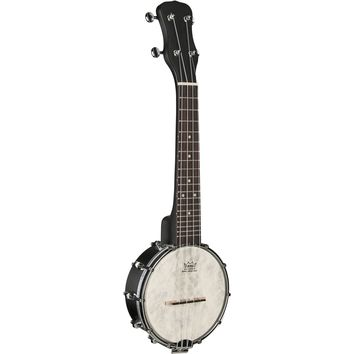 Kala Black Concert Ukulele Banjo with Soft Case