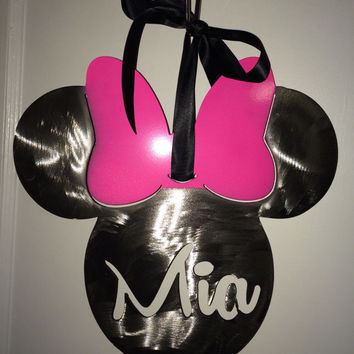 Minnie Mouse Sign Personalized for baby Nursery or bedroom, wall art, little girls, pretty