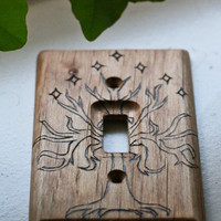 Tree of Gondor woodburned wallplate