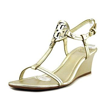 Tory Burch Miller 60MM Wedge Women US 8 Gold Wedge Sandal