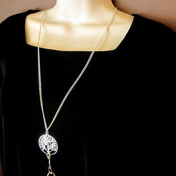 Fashion ID Lanyard with Silver Tree of Life (several chains available)