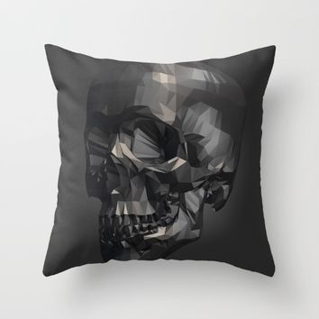 Skull in Low Poly Style Throw Pillow by Taoteching / C4Dart