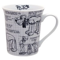 Disney Sketchbook Pluto Mug, Set of 4
