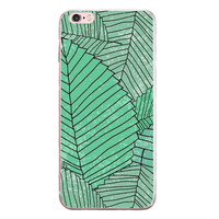 Big Leaves Printed Case Cover for iPhone 6 7 7 Plus