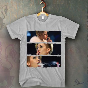 Miley Cyrus Smoking Blunt Unisex T-shirt Funny and Music