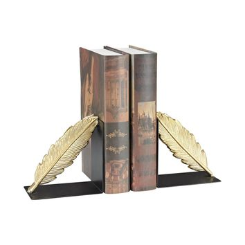 Ferrier Bookends In Gold And Black Gold,Black