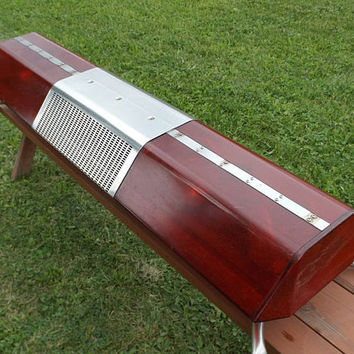 """vintage 60s red flashing 57"""" light bar vehicle truck car auto automobile roof mount rescue emergency signal strobe service police cop retro"""