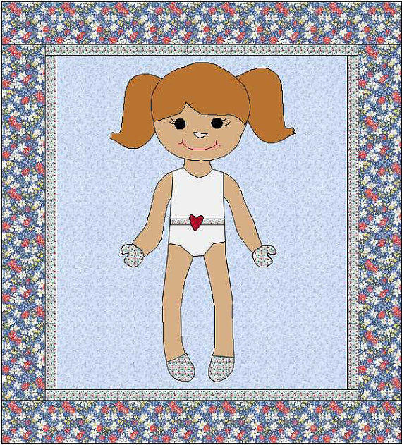 Morgan dress up doll quilt paper doll from onedaisystudio on for Felt dress up doll template
