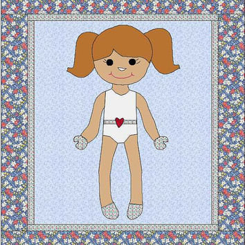Morgan Dress Up Doll Quilt - Paper Doll Pattern - Quilt Pattern - Doll Blanket - Dress Up Blanket - Girl Quilt - Blanket Pattern - Dress Up