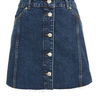 PETITE Button Through Mini Skirt | Topshop