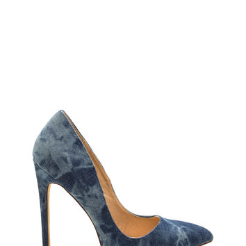 Head To Toe Denim Pumps GoJane.com