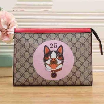 GUCCI Hot Sale Color Edge Puppy Handbag Zipper Bag B-MYJSY-BB LV Pink