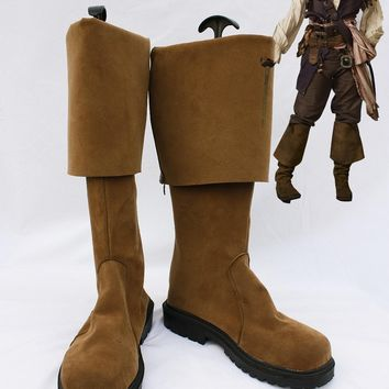 Pirates of the Caribbean Jack Sparrow Boots Cosplay Halloween Party Shoes Fancy Custom Made European Szie