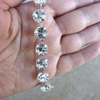 Swarovski crystal bracelet, 11mm clear crystal, bridal, sabika inspired, bling