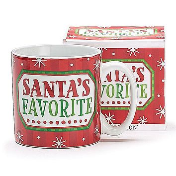 Santa's Favorite Christmas Mug - 13 oz