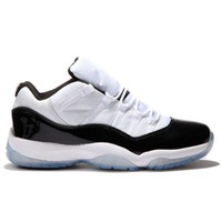 PEAPVX Beauty Ticks 528895-153 Nike Air Jordan 11 Retro Low White/black-dark Concord Grade School's Shoe