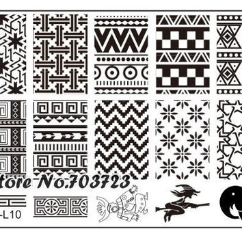 Fashion Series steel nail Stamp Stamping Image Konad Plate Print Nail Art Template DIY Elephant JL10