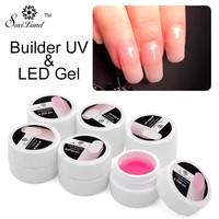 Saviland Hot Sell Pink Nail Builder Gel LED UV Lamp for Nails Extension Manicure Carved Tips Glue Transparent Nail Gel