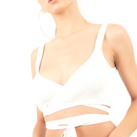 Wrapped Crop Top - White