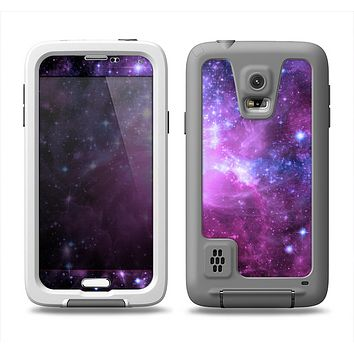 The Purple Space Neon Explosion Samsung Galaxy S5 LifeProof Fre Case Skin Set