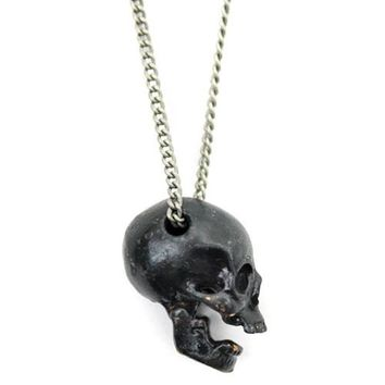 Open Jaw Skull Necklace (Moveable Parts)