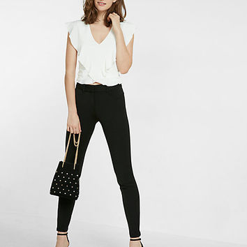 mid rise extreme stretch skinny dress pant
