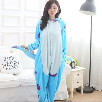 Special Offer Women's Cow Animal Pajamas One Piece Full Sleeve Hooded Polyester Pajama Sets Pijama Animal  Pajamas