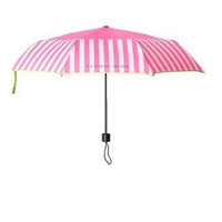 Victoria's Secret Umbrella Pink Stripe Collapsible VS