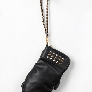 Studded Boxing Glove Clutch