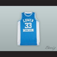 Kobe Bryant 33 Lower Merion High School Light Blue Basketball Jersey
