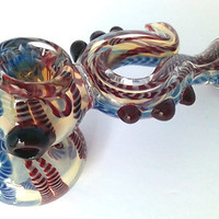 "On Sale 50 % off ! - Extended 6"" inch Handmade Tall Sherlock Glass Pipe - Dragon Sherlock Pipe ( Only 1 piece Remaining )"