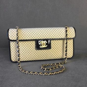 CHANEL shoulder 2.55 quiled evening BAG chain GOLD mat herdcover with receipt