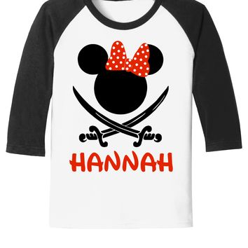 Pirate Minnie - Disney Cruise - Pirate Night Tee - With Personalization Option