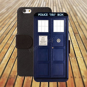 Police Box Case iphone 5/ 5s iphone 4/ 4s iPhone 6 6 Plus iphone 5C Wallet Case , iPhone 5 Case, Cover, Cases colorful pattern L005