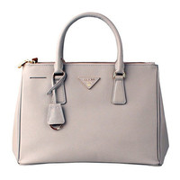 Nude Leather Box Handbag Tote