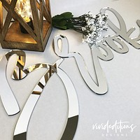 """18"""" Silver Mirror Personalized Name Sign"""