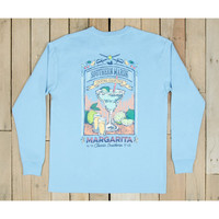 Southern Marsh Blue Cocktail Collection Tee- Margarita- Breaker Blue