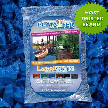 Playsafer Rubber Mulch - Blue