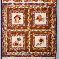 Quilted Fall Wall Hanging - Autumn Wall Quilt - Fall Autumn Wall Decor Maple Leaf Hill