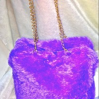 SWEET LORD O'MIGHTY! FURBAE TOTE BAG IN PURPLE