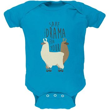 Save the Drama for Your Llama Pun Soft Baby One Piece