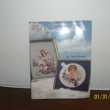 american school of needlework guardian angels cross stitch pattern book